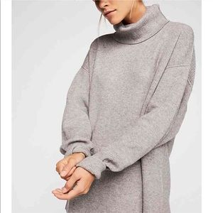 Free People Oversized Turtleneck Sweater